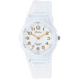 Q&Q シチズン キューアンドキュー 腕時計 ブランド アナログ メンズ レディース ユニセックス ファルコン vs06-002 ホワイト×ブラウン ゆうパケット対応