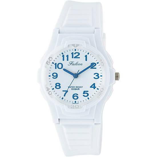 Q&Q シチズン キューアンドキュー 腕時計 ブランド アナログ メンズ レディース ユニセックス ファルコン vs06-004 ホワイト×ブルー ゆうパケット対応
