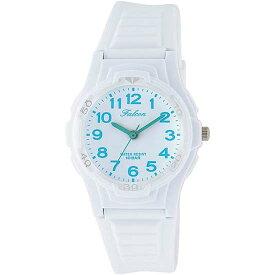 Q&Q シチズン キューアンドキュー 腕時計 ブランド アナログ メンズ レディース ユニセックス ファルコン vs06-005 ホワイト×ライトブルー ゆうパケット対応