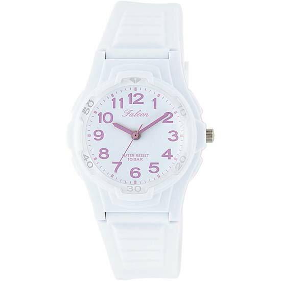 CITIZEN Q&Q シチズン キューアンドキュー 腕時計 アナログ ユニセックス ファルコン vs06-007 ホワイト×ピンク メール便発送/代引きは送料・手数料別途