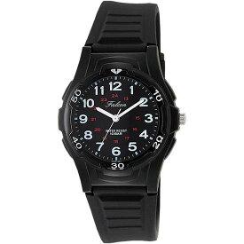 Q&Q シチズン キューアンドキュー 腕時計 ブランド アナログ メンズ レディース ユニセックス ファルコン スタンダード vs08-001 ブラック×ホワイト ゆうパケット対応