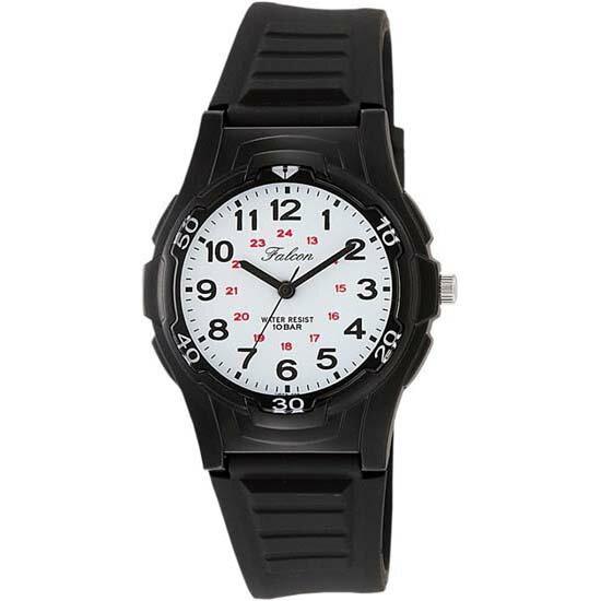 CITIZEN Q&Q シチズン キューアンドキュー 腕時計 アナログ ユニセックス ファルコン スタンダード vs08-002 ブラック×ホワイト メール便発送/代引きは送料・手数料別途