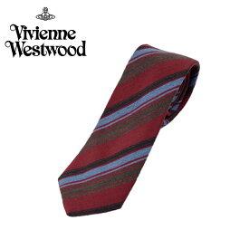 ヴィヴィアン ウエストウッド Vivienne Westwood ネクタイ ストライプ柄 7cm レッド 10048-h239slim