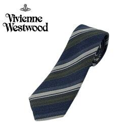 ヴィヴィアン ウエストウッド Vivienne Westwood ネクタイ ストライプ柄 7cm ネイビー 10048-k288slim