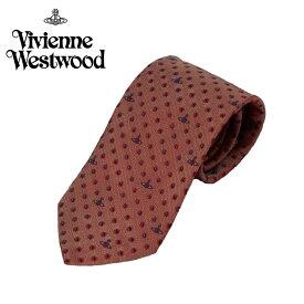 ヴィヴィアン ウエストウッド Vivienne Westwood ネクタイ 小紋柄 ドット柄(水玉) 8.5cm レッド 24t85-p47-0001