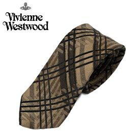 ヴィヴィアン ウエストウッド Vivienne Westwood ネクタイ チェック柄 8.5cm ブラウン 60909013-c41-0001