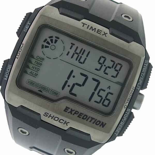 タイメックス TIMEX エクスペディション グリッドショック クオーツ メンズ 腕時計 TW4B02500 グレー/ブラック 海外輸入品
