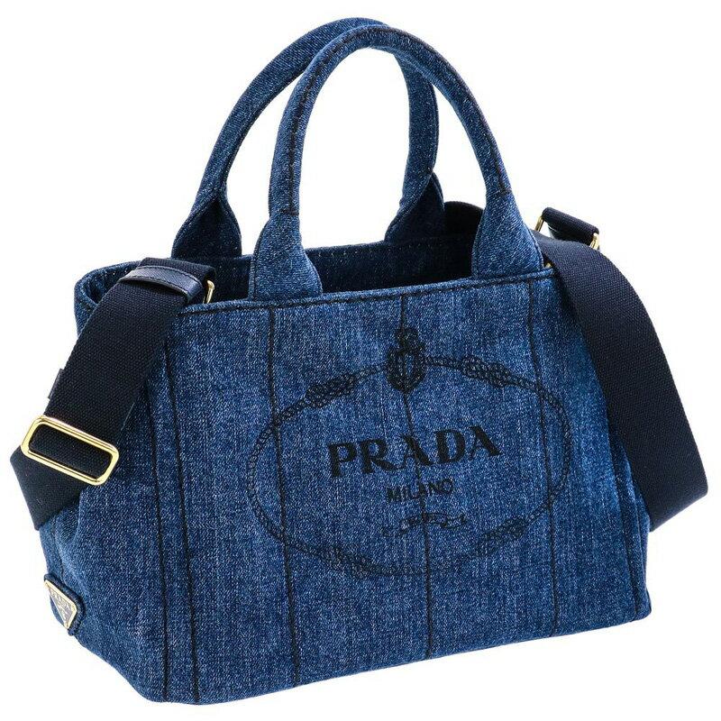 プラダ PRADA 1BG439 DENIM/BLEU 手提げバッグ トートバッグ ハンドバッグ レディース