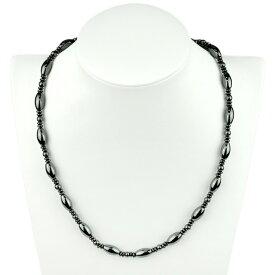 パワーストーン 最高級天然石 ヘマタイト 磁気ネックレス 50cm(男女兼用サイズ) HM-101 【あす楽】
