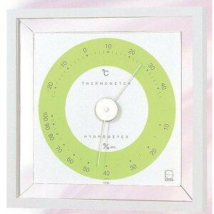 エンペックス 温度・湿度計 リビ温・湿度計 置掛兼用 LV-4403 グリーン