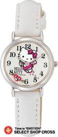 シチズン Q&Q ハローキティ Hello Kitty クォーツ レディース 腕時計 q491-631 ホワイト 白 【女性用腕時計 リストウォッチ ランキング ブランド かわいい カラフル キッズ ケース ベルト】