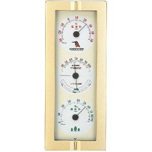 エンペックス 温度・湿度計 ワンダーワーカー快適モニター 掛用 TM-489 シャンパンゴールド