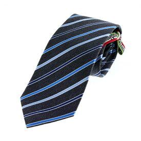オロビアンコ Orobianco 国内正規代理店品 シルク100% メンズ ネクタイ ストライプ柄 グレー ネイビー ブルー 15482010-1