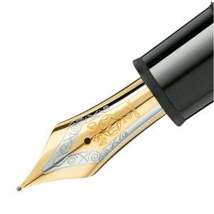 モンブランMONTBLANCマイスターシュテュック149万年筆ペン先(F)ゴールドコーティングブラックゴールド115383