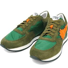 アーバンサン URBAN SUN ALAIN 102 アレイン GREEN グリーンカーキ キャンバス×スエード メンズ スニーカー 靴 URBANSUN 39 40 41 42 43 44 45