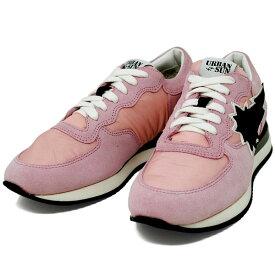 アーバンサン URBAN SUN DORIS 112 ドリス PINK ピンク キャンバス×スエード レディース スニーカー 靴 URBANSUN 35 36 37 38