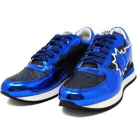 アーバンサン URBAN SUN DORIS 114 ドリス BLUE ブルーメタリック ラメ レディース スニーカー 靴 URBANSUN 35 36 37 38