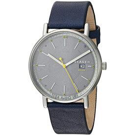 スカーゲン SKAGEN シグネチャー SIGNATUR ソーラー メンズ 腕時計 SKW6451 ネイビー イエロー スカーゲン ソーラー 時計 【あす楽】