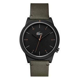 ラコステ LACOSTE 腕時計 2010991 Motion ブラック×カーキレザー ユニセックス メンズ レディース 【あす楽】
