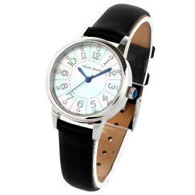 マウロジェラルディ Mauro Jerardi ソーラー 天然シェル文字盤 3針 レディース 腕時計 レザー MJ060-4 ブラック
