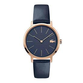 ラコステ LACOSTE クオーツ レディース 腕時計 2001071 MOON ネイビー レザー