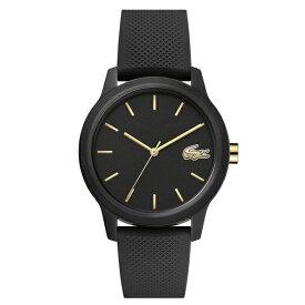 ラコステ LACOSTE クオーツ レディース 腕時計 2001064 L.12.12 ブラック ラバー 【あす楽】