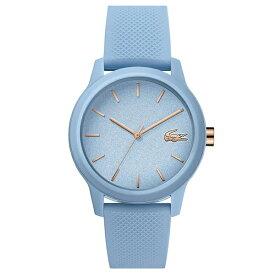 ラコステ LACOSTE クオーツ レディース 腕時計 2001066 L.12.12 ライトブルー ラバー 【あす楽】