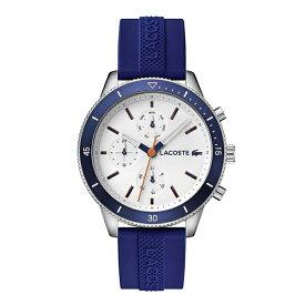 ラコステ LACOSTE クオーツ メンズ 腕時計 2010993 KEY WEST ホワイト ブルー ラバー 【あす楽】