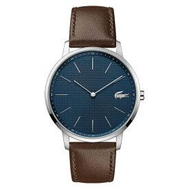 ラコステ LACOSTE クオーツ メンズ 腕時計 2011003 MOON ネイビー ブラウン レザー
