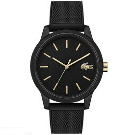 ラコステ LACOSTE クオーツ メンズ 腕時計 2011010 L.12.12 ブラック ラバー 【あす楽】
