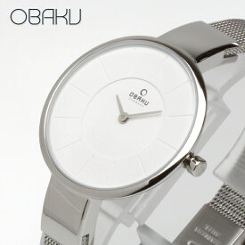 オバク OBAKU SOL 32mm STEEL シルバー/シルバーメタルメッシュベルト レディース 腕時計 ブランド V149LXCIMC 【あす楽】