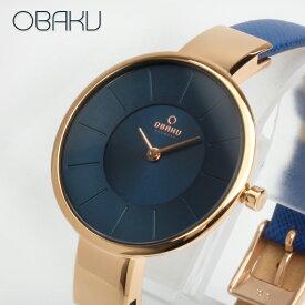 オバク OBAKU SOL 32mm NAVY ネイビー/ローズゴールド レディース 腕時計 ブランド V149LXVLRA 【あす楽】