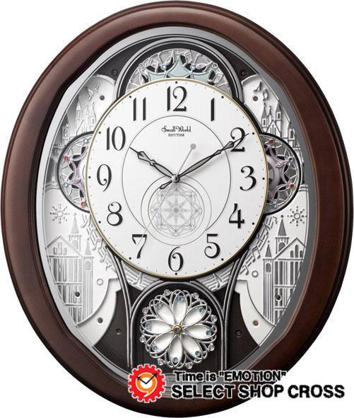 シチズン CITIZEN リズムクロック Rhythm Clock パルミューズストリーム Muse Pal stream クォーツ 掛時計 4mn511rh06 ブラウン×ホワイト 白 【着後レビューを書いて1000円OFFクーポンGET】