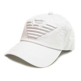 エンポリオ アルマーニ EMPORIO ARMANI キャップ 帽子 ベースボールキャップ ホワイト メンズ レディース ユニセックス ブランド 627522 CC995 00010