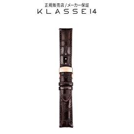 【国内代理店正規商品】 クラスフォーティーン KLASSE14 DISCO VOLANTE Rose Gold Buckle / Brown Crocodile Strap 20mm 腕時計 替えベルト ブラウン BDDIRG001M クラス14 class14