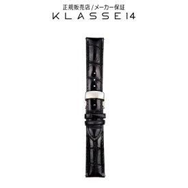【国内代理店正規商品】 クラスフォーティーン KLASSE14 DISCO VOLANTE Silver Buckle / Black Crocodile Strap 20mm 腕時計 替えベルト ブラック BDDISR001M クラス14 class14