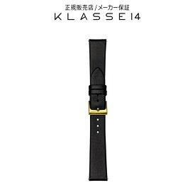 【国内代理店正規商品】 クラスフォーティーン KLASSE14 Volare Gold Buckle / Black Leather Strap 17mm 腕時計 替えベルト ブラック BDVOGD001W クラス14 クラッセ14 class14