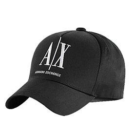 アルマーニ エクスチェンジ ARMANI EXCHANGE ブラック ベースボールキャップ 帽子 キャップ メンズ ブランド ロゴ 954047 CC811 00020 【あす楽】