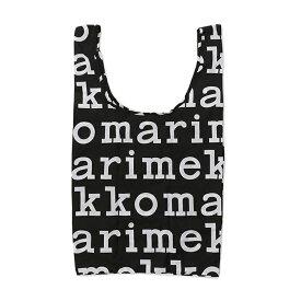 マリメッコ Marimekko エコバッグ トートバッグ 折りたたみ SMARTBAG MARILOGO スマートバッグ マリロゴ 048854 910 Black ブラック ブランド おしゃれ かわいい プレゼント ゆうパケット対応