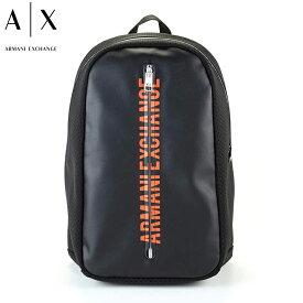 アルマーニ エクスチェンジ A|X ARMANI EXCHANGE バックパック リュック メンズ ブラック オレンジ ロゴ 952225 0P295 00020 ブランド バッグ 【あす楽】