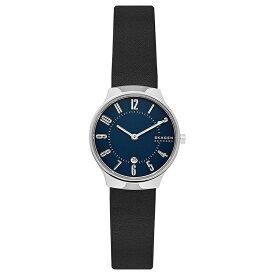 スカーゲン SKAGEN レディース 腕時計 GRENEN グレーネン ネイビー ブラックレザー SKW2807 プレゼント ブランド シンプル おしゃれ かわいい 【あす楽】
