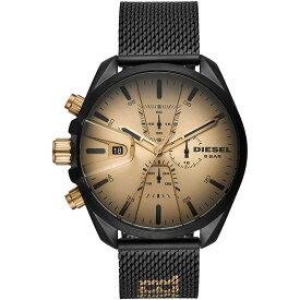 ディーゼル DIESEL メンズ MS9 CHRONO エムエスナイン クロノグラフ ゴールド ロゴ ブラックメッシュ DZ4517 腕時計 人気 ブランド 男性 プレゼント おしゃれ