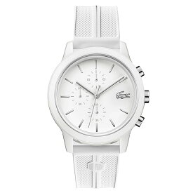 ラコステ LACOSTE クロノグラフ クオーツ メンズ 腕時計 ホワイト 白 ラバー シリコン アナログ ウォッチ カジュアル ブランド 人気 おすすめ おしゃれ 2011090 【あす楽】