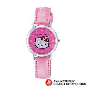 Q&Q シチズン HELLO KITTY ハローキティ レディース 腕時計 0009n002 MADE IN JAPANモデル ピンク 【女性用腕時計 リストウォッチ ランキング ブランド かわいい カラフル キッズ ケース ベルト】
