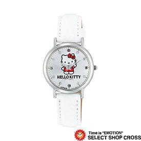 Q&Q シチズン HELLO KITTY ハローキティ レディース 腕時計 0017n004 MADE IN JAPANモデル ホワイト 白 【女性用腕時計 リストウォッチ ランキング ブランド かわいい カラフル キッズ ケース ベルト】