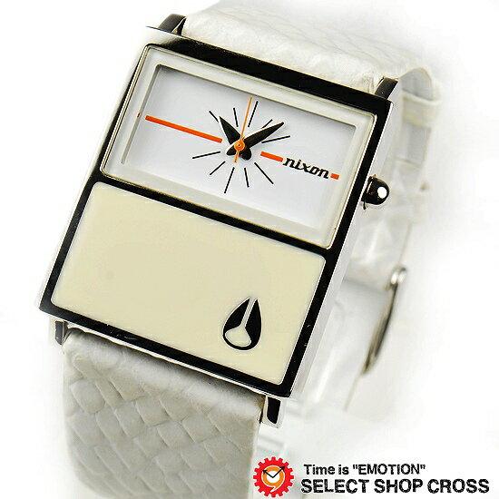 NIXON ニクソン 腕時計 レディース ステンレス アナログ CHALET LEATHER A576843 ホワイト【着後レビューを書いて1000円OFFクーポンGET】