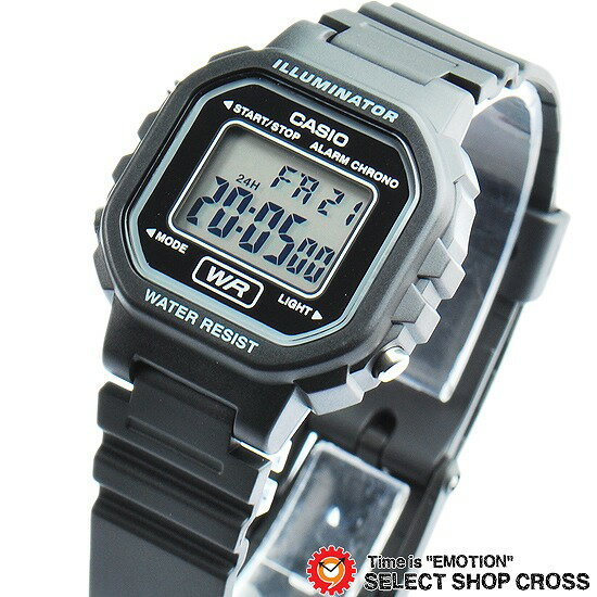 カシオ CASIO レディース キッズ 子供 メンズ 腕時計 ブランド デジタル スタンダード LA-20WH-1A ブラック 黒 海外モデル チプカシ チープカシオ 【あす楽】