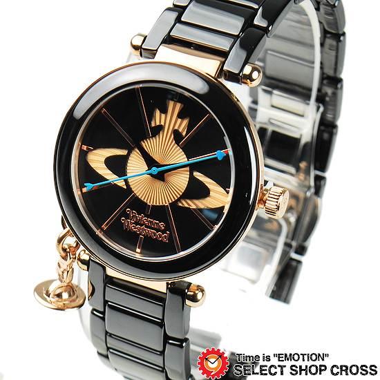 ヴィヴィアン・ウエストウッド Vivienne Westwood レディース チャーム付き アナログ 腕時計 VV067RSBK ブラック 黒 【女性用腕時計 リストウォッチ ランキング ブランド かわいい カラフル】【着後レビューを書いて1000円OFFクーポンGET】
