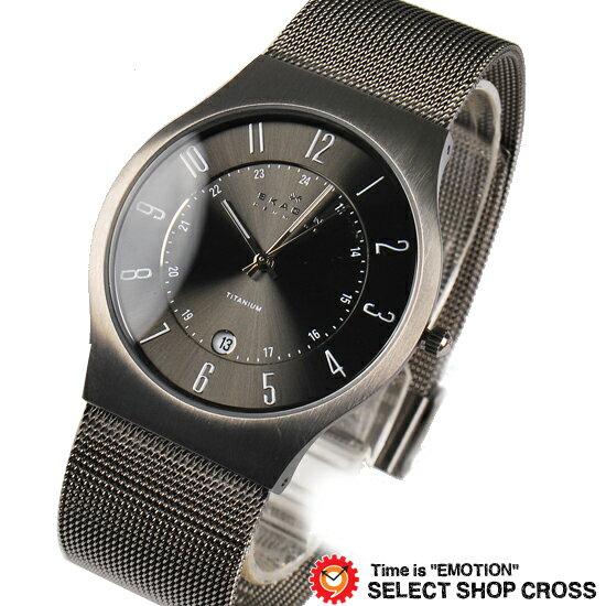 【即納】SKAGEN スカーゲン 腕時計 メンズ クォーツ チタン アナログ 233XLTTM グレー【着後レビューを書いて1000円OFFクーポンGET】