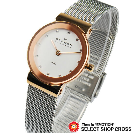 【お取寄せ】SKAGEN スカーゲン 腕時計 レディース クォーツ ステンレス アナログ 358SRSC ピンクゴールド/シルバー【着後レビューを書いて1000円OFFクーポンGET】